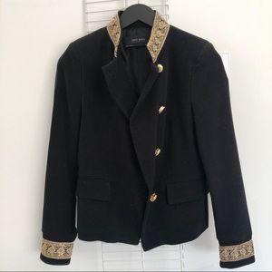Zara Military Style Velvet Jacket